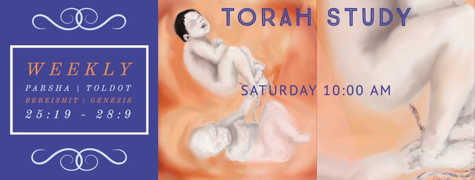 Torah Study with Reb Jamie and Friends! Saturday at 10:00 am