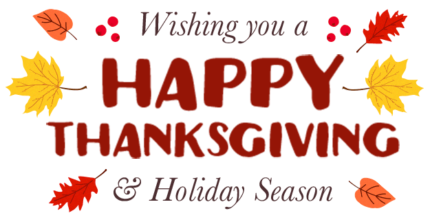 CPT Wishes You a Happy Thanksgiving and Holiday Season