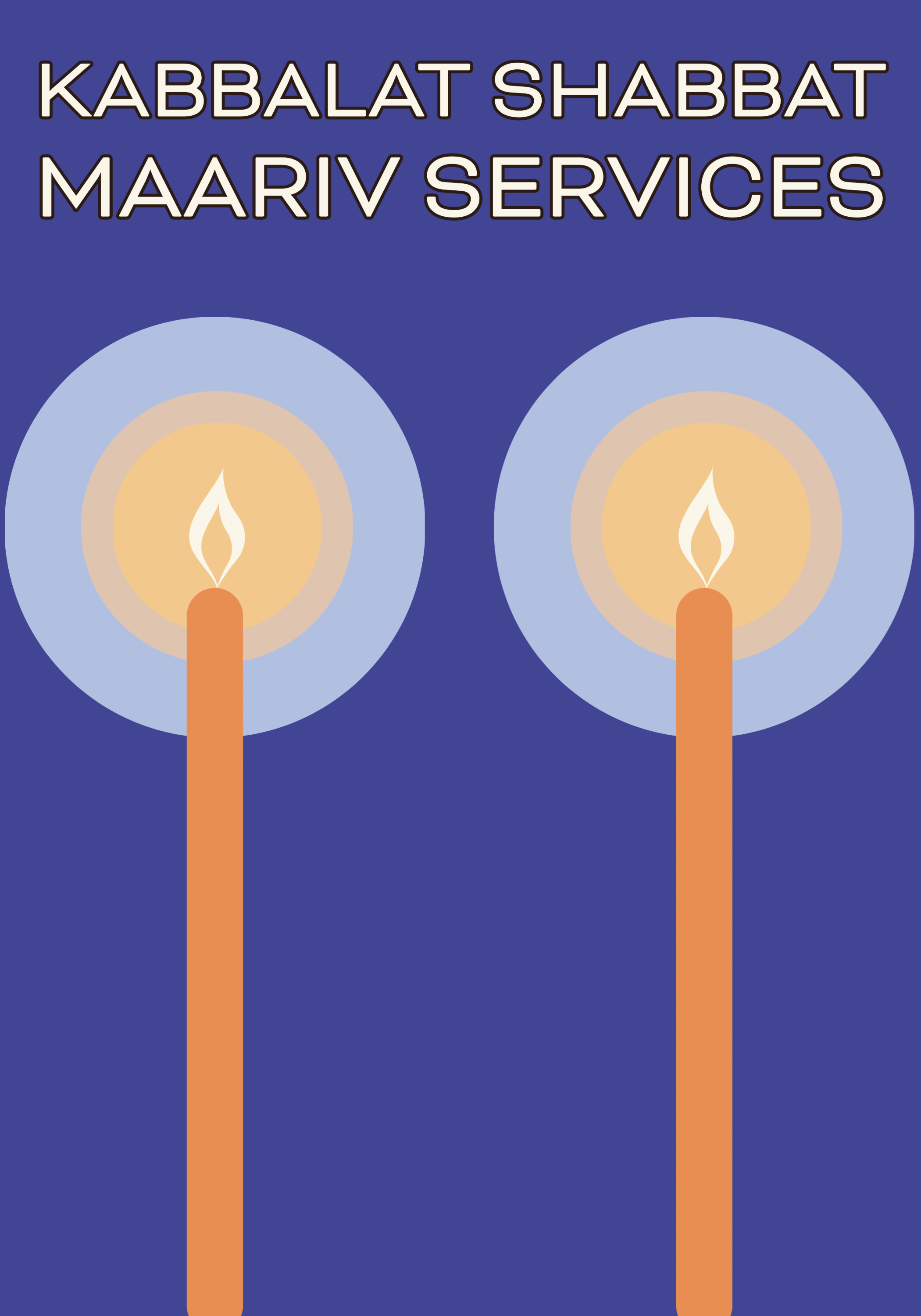 Kabbalat Shabbat Maariv Services 1st and 3rd Fridays 7:30 pm