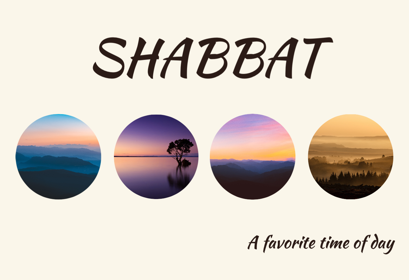 Shabbat, A Favorite time of Day