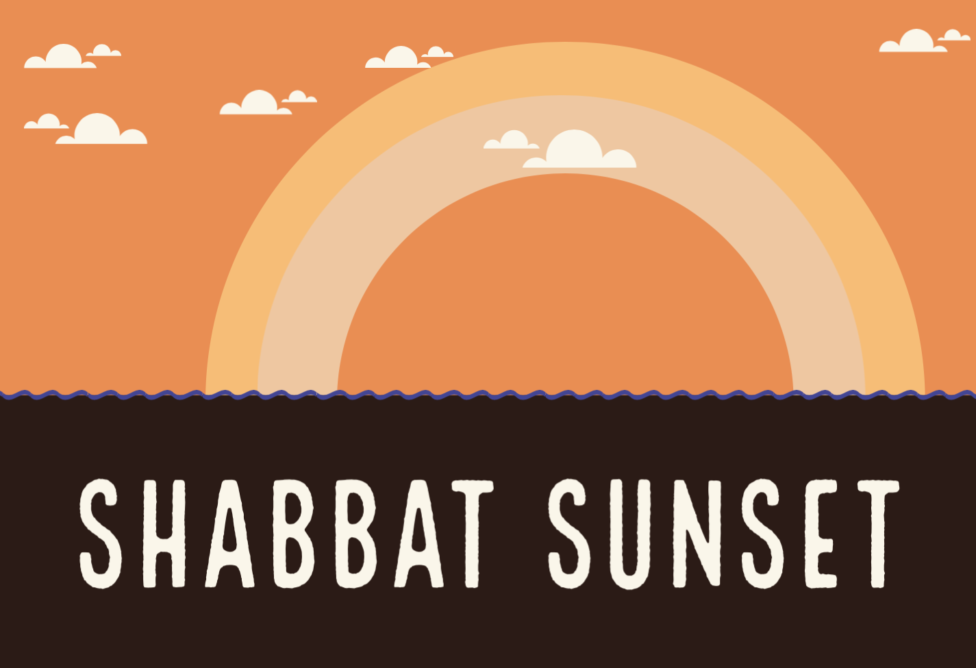"""Shabbat Sunset"" Shabbat Services are the 1st and 3rd Fridays of the month"