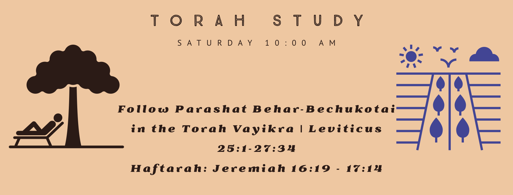 Torah Study with Reb Jamie and Friends! Saturdays 10:00 am.