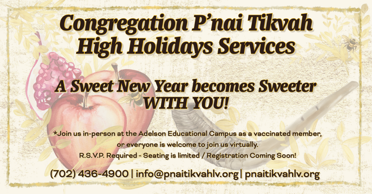 A Sweet New Year Begins with you - CPT High Holiday Services 2021