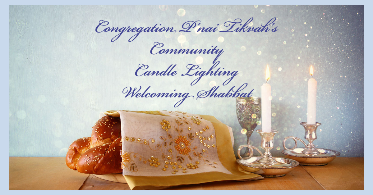 Shabbat Candle Lighting with the CPT Community 6:30 pm
